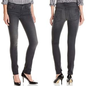 Hudson Shine Mid Rise Skinny Jeans Static Gray 26
